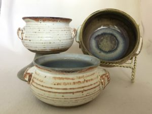 Jim Sheffler handmade pottery functional casseroles