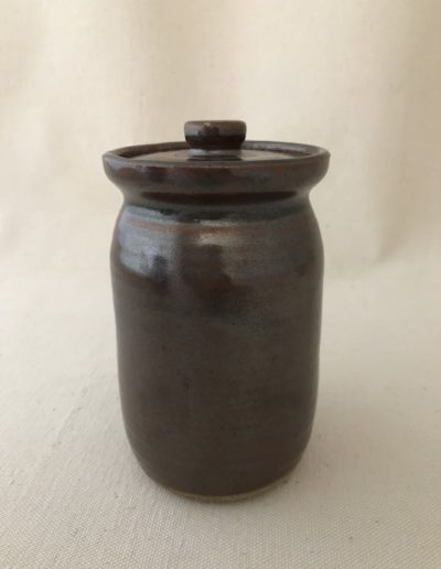 Jim Sheffler handmade pottery functional lidded jar 548