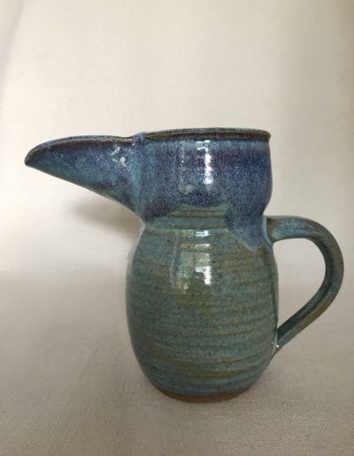 Jim Sheffler handmade pottery functional pitcher 51e
