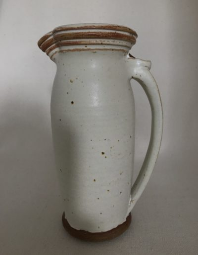 Jim Sheffler handmade pottery functional pitcher 543