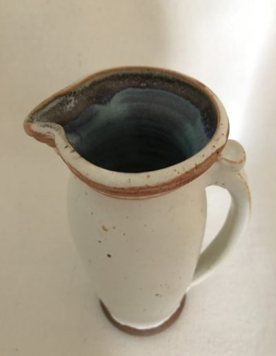 Jim Sheffler handmade pottery functional pitcher 544