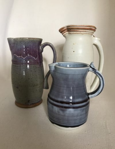 Jim Sheffler handmade pottery functional pitchers 540
