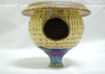 Jim Sheffler handmade pottery bird houses