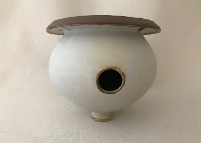 Jim Sheffler handmade pottery bird house